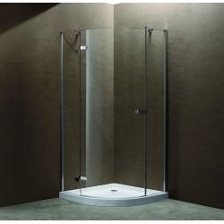 Box doccia semicircolare 90x90x185cm con una porta battente K251