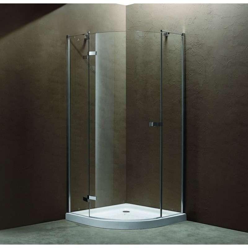 Box doccia semicircolare con una porta battente 90x90x185cm. negozio online kamalubagno
