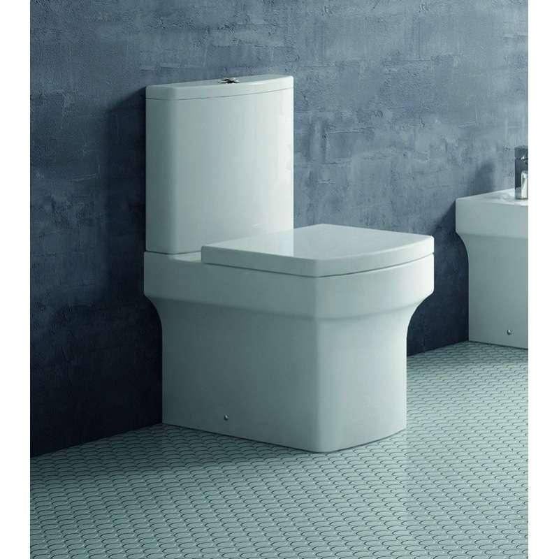 WC filomuro con doppia uscita e cassetta in ceramica Alix