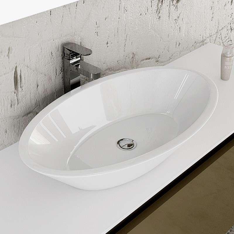 Lavabo da Appoggio Ovale Design Moderno - Prezzi | Kamalubagno.it