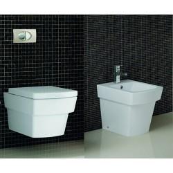 WC sospeso e bidet a terra modello Aten CT