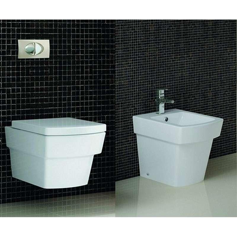 WC sospeso e bidet a terra modello Aten CT kamalu bagno