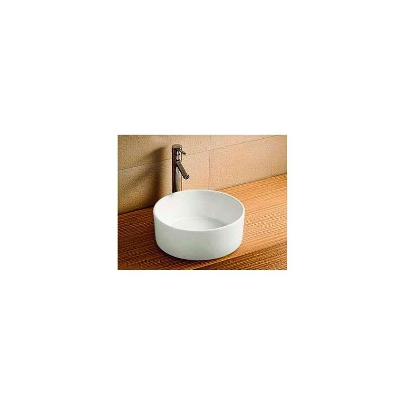 Lavandino bagno appoggio rotondo 40cm prezzo online - Lavandino in vetro bagno ...