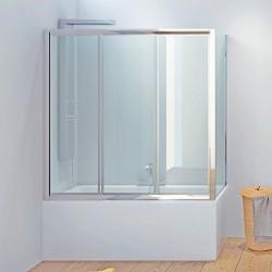 Cabina vasca 150x90cm vetro trasparente P2000S