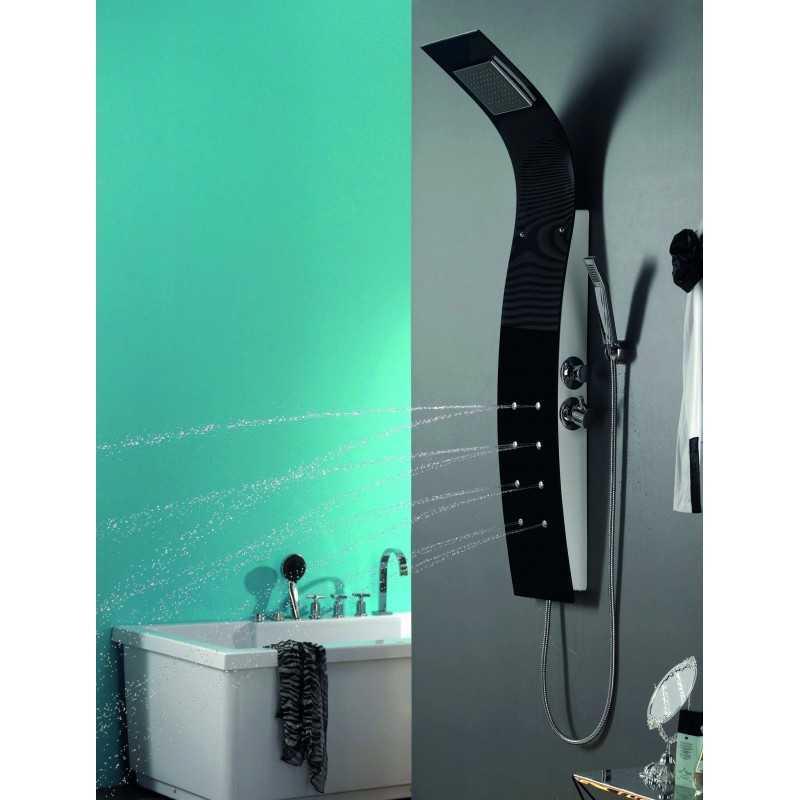 Colonna doccia Idromassaggio nera kamalubagno