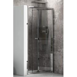 Porta doccia 70cm apertura a libro vetro trasparente K045