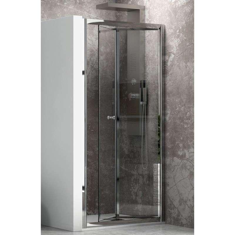 Porta doccia apertura a libro 70cm Kamalubagno