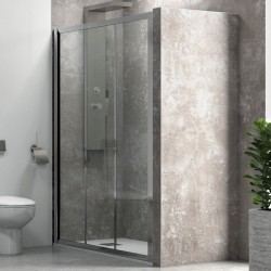 Porta doccia a scorrimento 90cm vetro trasparente K050