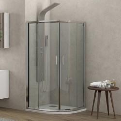 Box doccia 80x80cm semicircolare altezza 180cm vetro trasparente K400