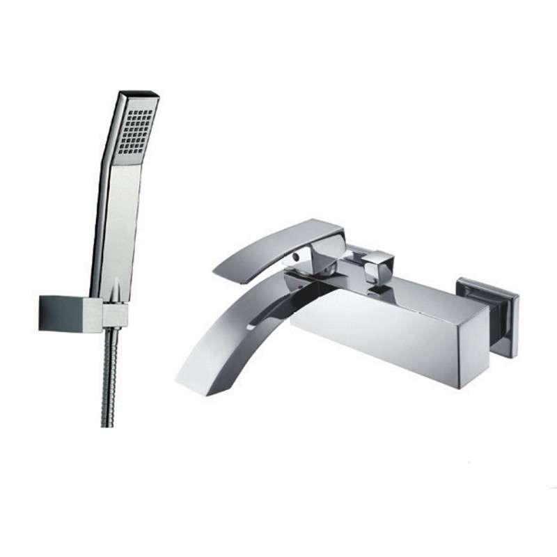Misclatore vasca con doccetta e flessibile modello Lison-V kamalubagno
