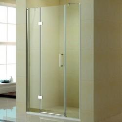 Nicchia doccia 160cm con porta battente e due fissi K015