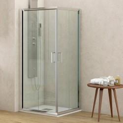 Cabina doccia ad angolo 130x130 altezza 180cm vetro trasparente K410