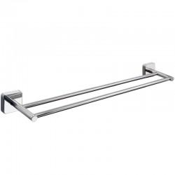 Portasalviette doppia barra 60cm in acciaio Kamalubagno.it