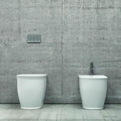Sanitari filo parete ceramica Luxury sedile soft-close Genta-80