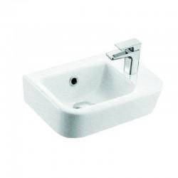 Lavabo sospeso con foro rubinetto a destra kamalu
