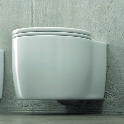 WC sospeso in ceramica sistema Soft-close Alizee-S90