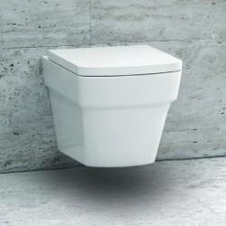 WC vaso sospeso squadrato ceramica modello Aten-S
