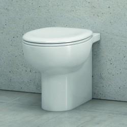 Vaso bagno wc a terra filomuro ceramica sedile soft-close modello Giuly