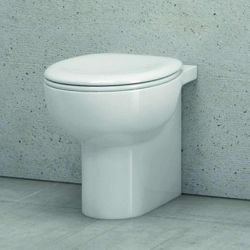 Vaso bagno wc a terra moderno in ceramica sedile soft-close modello Giuly