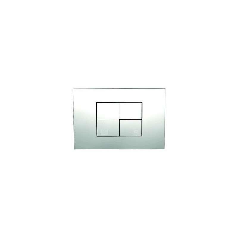 Placca cromata per cassetta scarico WC ad incasso con 2 tasti