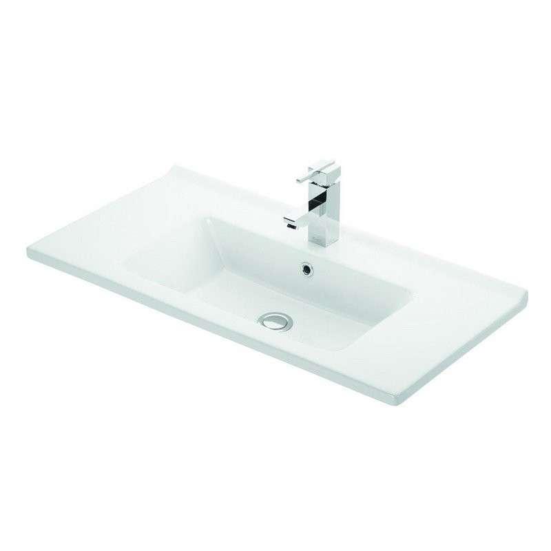 Lavabo bagno sospeso 85cm bianco lucido Litos-TN10