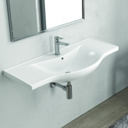 Lavandino sospeso bagno 100cm Litos-BS10