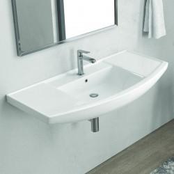 Lavabo bagno sospeso 100 cm in ceramica Litos-BN10