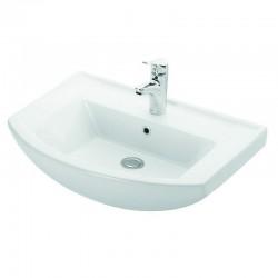 Lavabo bagno sospeso 65 cm ceramica Litos-BN80