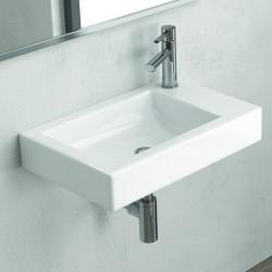 Lavabo sospeso 55 cm rubinetto destra Litos-MN55