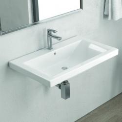 Lavabo bagno sospeso 70 cm ceramica Litos-DE70
