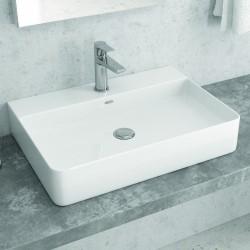 Lavabo appoggio filomuro 60cm Ceramica Litos-0005