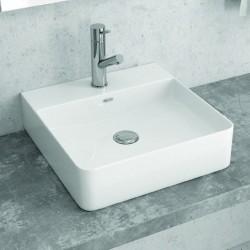 Lavabo quadrato 42cm appoggio filomuro Litos-0007