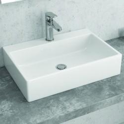 Lavello bagno appoggio 50 cm rettangolare Litos-250