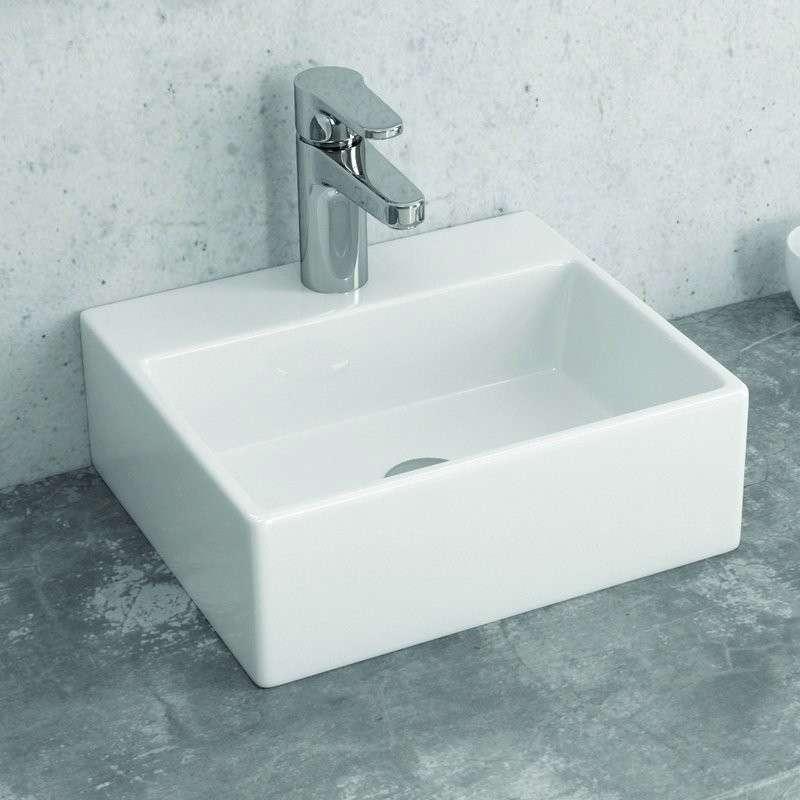 Lavandino Piccolo Per Bagno.Lavandino Bagno Appoggio Piccolo 34 Cm Guarda Prezzo Kamalu Bagno