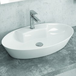 Lavabo appoggio ovale 61cm ceramica slim Litos-0012
