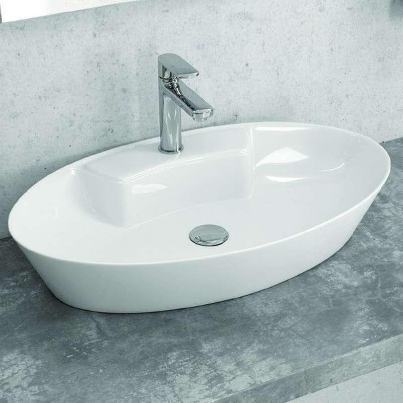 Lavabo appoggio ovale slim 61cm - Prezzi e Offerte | kamalubagno.it