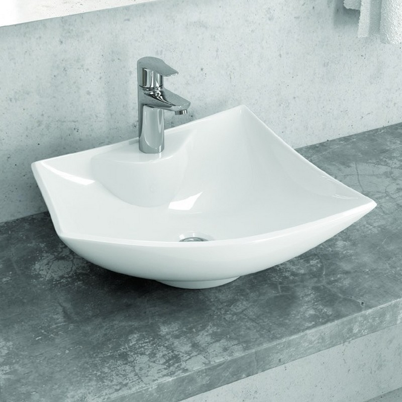 Lavabo a bacinella moderno Litos-149 kamalubagno
