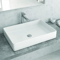 Lavabo appoggio rettangolare 60 cm design moderno Litos-0001