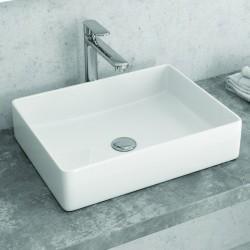 Lavabo bagno appoggio 47cm design moderno ceramica modello Litos-0003