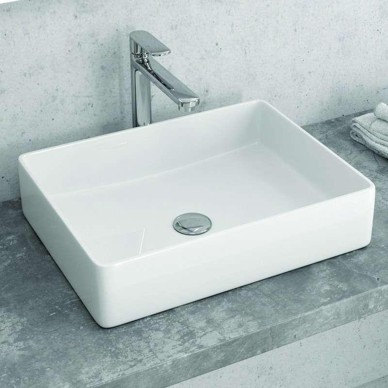 Lavabo bagno appoggio 47cm design moderno in offerta | KamaluBagno.it