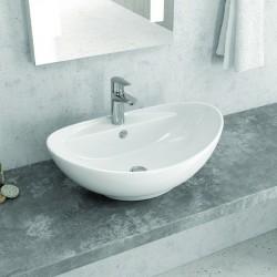 Lavabo da appoggio bacinella ovale 59cm Litos-359