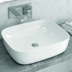 Lavabo appoggio 50cm ceramica slim design moderno Litos-0014