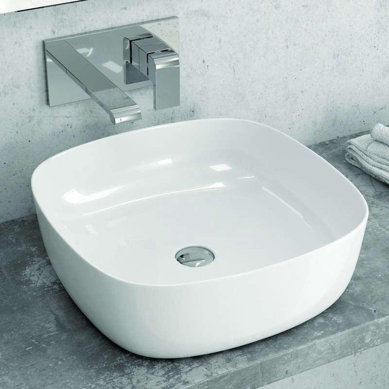 Lavabo appoggio 41cm In ceramica Slim modello Litos-0015