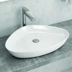 Lavabo ovale appoggio 59cm ceramica Modello Litos-0009