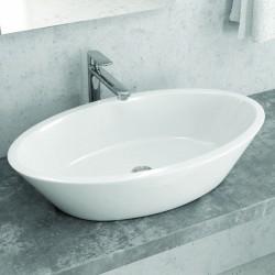 Lavabo da appoggio moderno ovale 70cm Litos-369