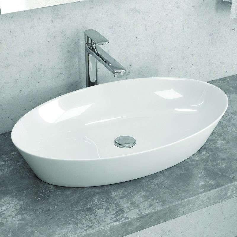 Lavabo Ovale 60cm Ceramica Slim modello Litos-0016