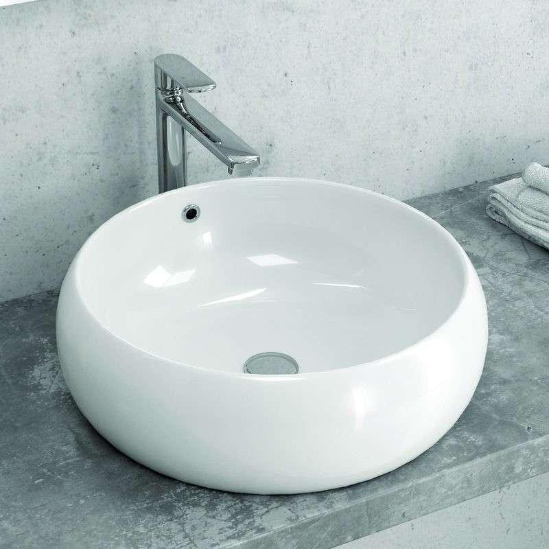 Lavandino appoggio tondo ceramica 45cm Litos-T22