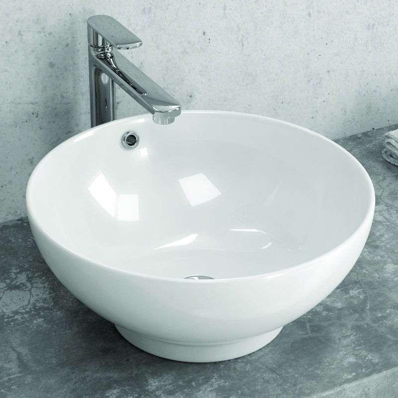 Lavabo economico bacinella tonda 40cm Litos-340 kamalubagno