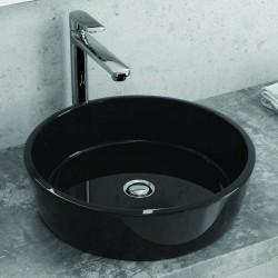 Lavabo da appoggio nero in vetro diametro 42cm Athos-550