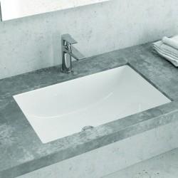 Lavabo da incasso sottopiano rettangolare ceramica Litos-652